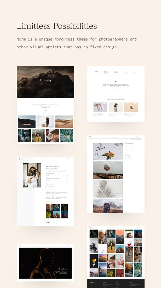 Norm - Photography Elementor WordPress Theme - 2